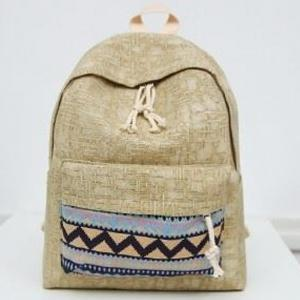 Women's Backpack Ethnic Style Patchwork Faddish All Match Bag -