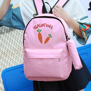 Girl's Backpack Set Cartoon Pattern School Bags Set -