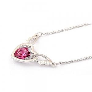 Women's Necklace Heart Shape Angle Purity Pendant Accessory -