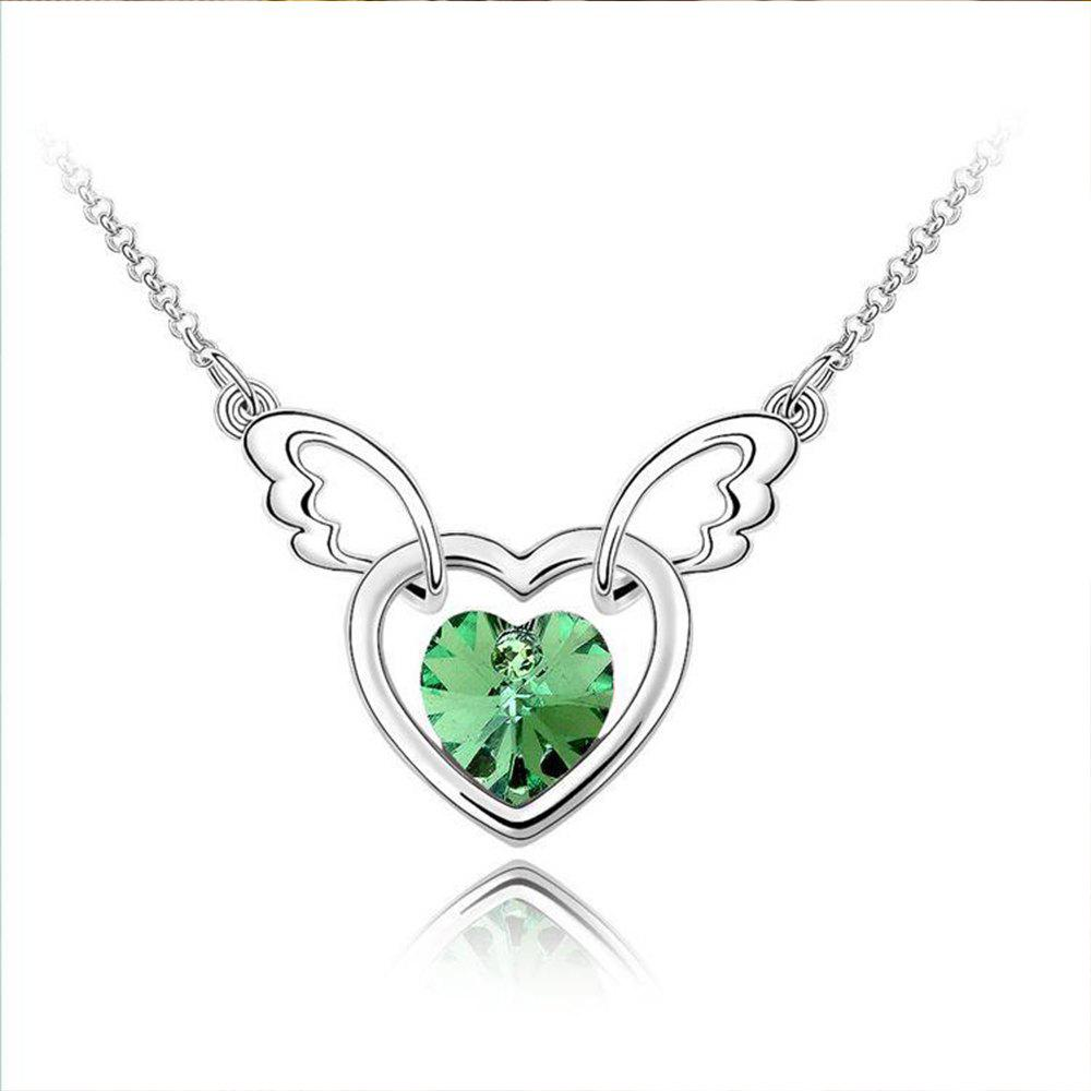 Trendy Women's Necklace Heart Shape Angle Purity Pendant Accessory