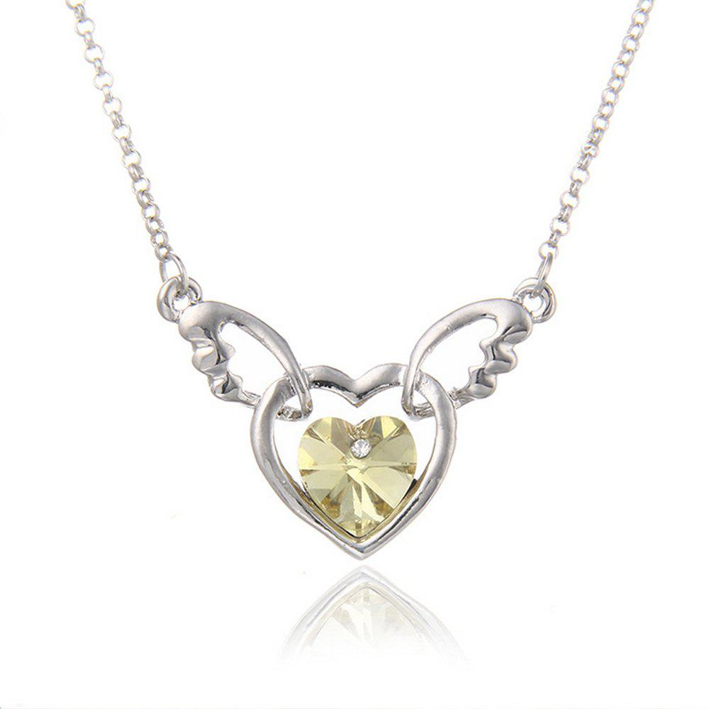 Chic Women's Necklace Heart Shape Angle Purity Pendant Accessory