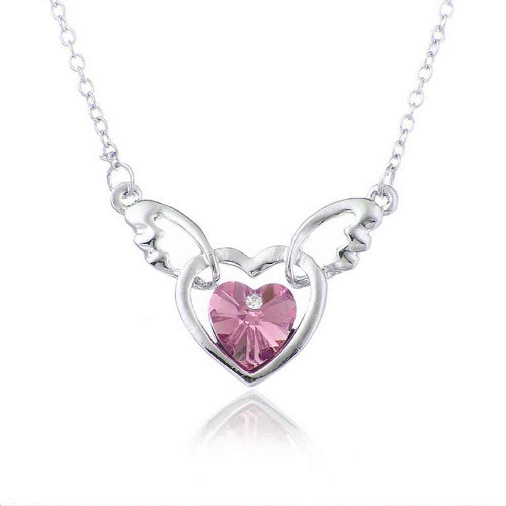 Affordable Women's Necklace Heart Shape Angle Purity Pendant Accessory
