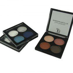 ZD F2091 4 Colors Eye Shadow Palette Matte Shimmer Powder Eyeshadow 3PCS -