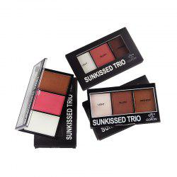 GORON F2015 3 Colors Blusher Bronzer Palette Facial Makeup Palettes 3PCS -