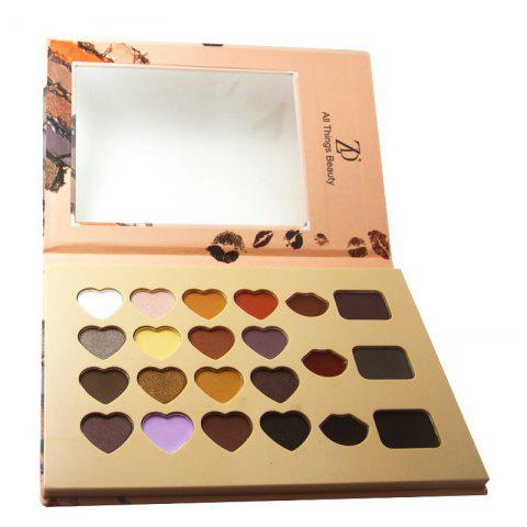 Cheap ZD F2082 Makeup Palette 16 Colors Eyeshadow 3 Colors Lip Gloss 3 Colors Eyebrow Powder Palettes 1PC