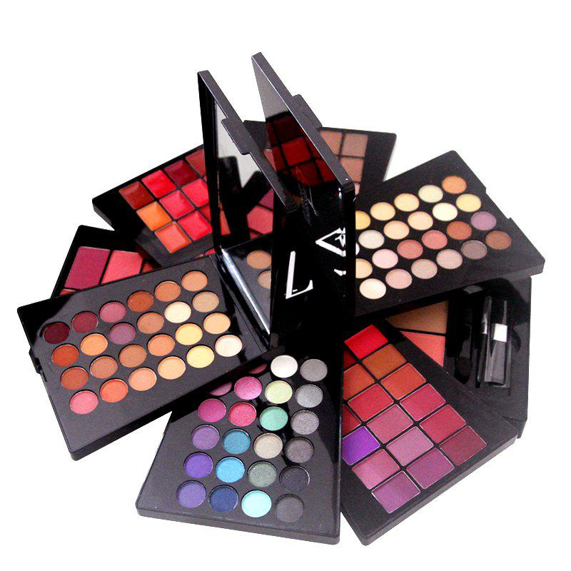 Online ZD F2061 132 Colors Eyeshadow Blusher Lipstick Foundation Makeup Palette With Brushes 1pc