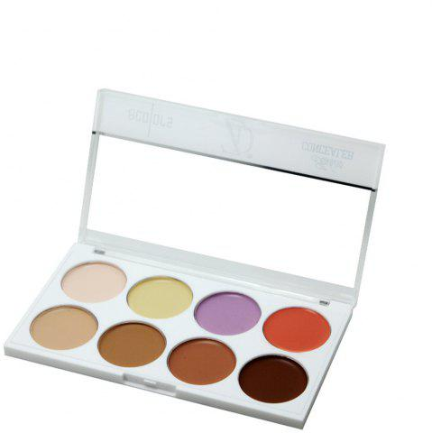 Best ZD F2087 8 Colors Concealer Palette 1pc
