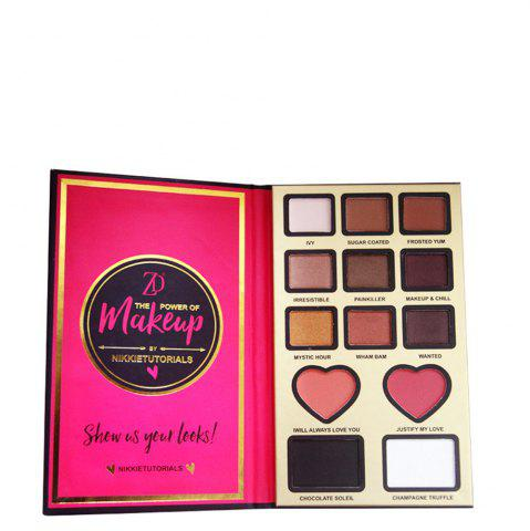 Outfits ZD F2099 9 Colors Eyeshadow 2 Colors Blusher 2 Colors Bronzer Powder 1PC