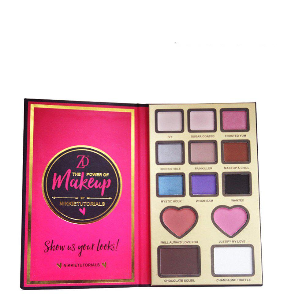 New ZD F2099 9 Colors Eyeshadow 2 Colors Blusher 2 Colors Bronzer Powder 1PC