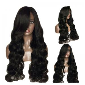 Fluffy Long Body Wave 180 Percent Heavy Hair Density Synthetic Lace Front Wigs -