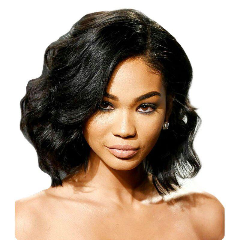 Shops Deep Side Part Fashion Short Body Wavy Bob Lace Front Wig Synthetic Hair Heat Restaurant