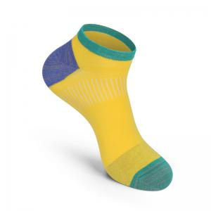 Men Breathable Brazil Flag Design Sock Anti Bacterial and Anti-odor Cotton Sock -