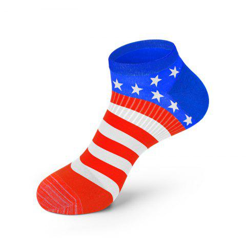 Best Men America Flag Style Cotton Sock Fashion Anti Bacterial and Anti-odor Solid Color Socks