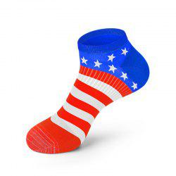 Men America Flag Style Cotton Sock Fashion Anti Bacterial and Anti-odor Solid Color Socks -