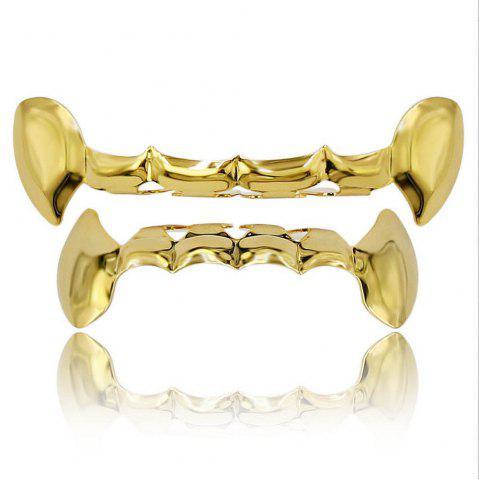 Dents de vampire plaquées or 18K Hip Hop Grillz Grillz