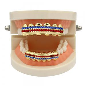 Hip Hop 18K Gold Plated Gold Crystal Classic Grillz -