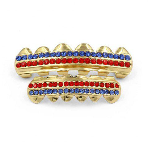 Latest Hip Hop 18K Gold Plated Gold Crystal Classic Grillz