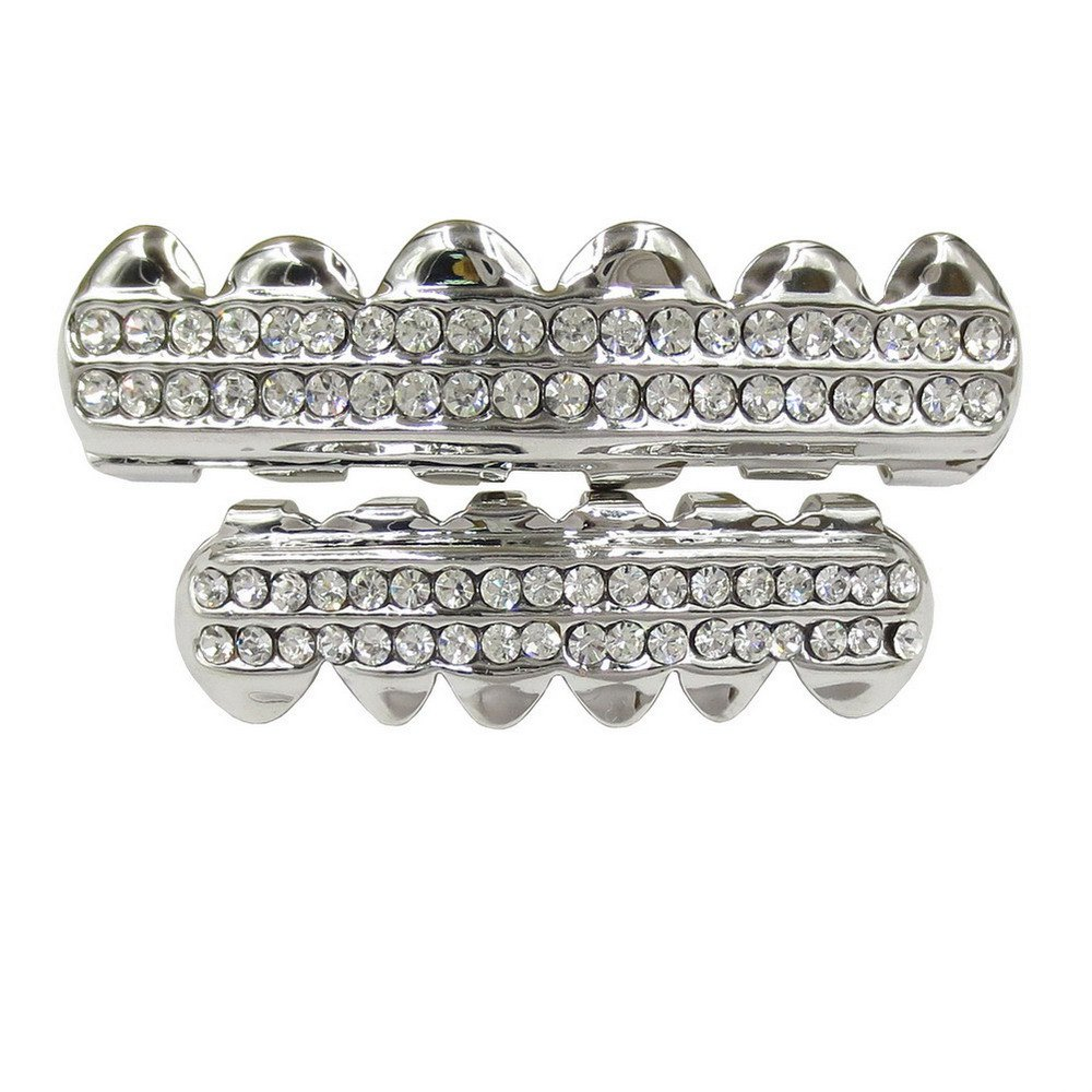 Best Hip Hop 18K Gold Plated Gold Crystal Classic Grillz
