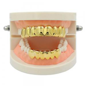 Hip Hop 18K Gold Plated 8 Teeth Classic Grillz -