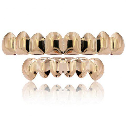 Store Hip Hop 18K Gold Plated 8 Teeth Classic Grillz