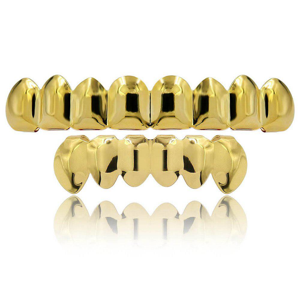 Online Hip Hop 18K Gold Plated 8 Teeth Classic Grillz