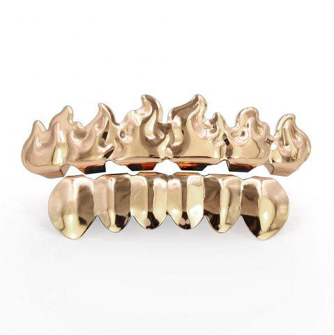 Buy Hip Hop 18K Gold Plated Fire Teeth Grillz