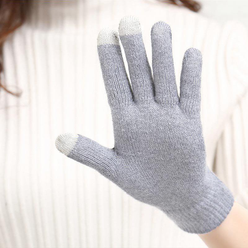 New Cotton Knitted Touch Screen Gloves