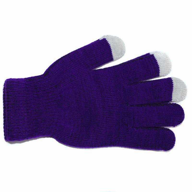 Online Cotton Knitted Touch Screen Gloves