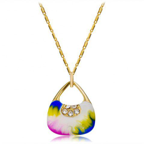 Trendy 14K Gold-Plated Gilded Pendant Necklace