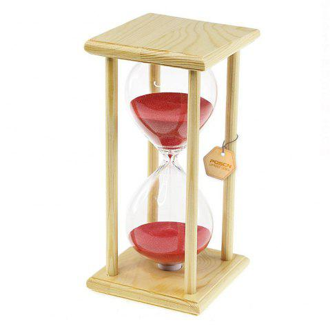 Outfits POSCN 30 Minutes Durable Glass Hourglasses Crude Wood Sand Timer for Time Management LP9007-0005