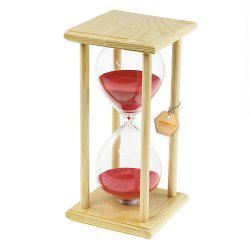 POSCN 30 Minutes Durable Glass Hourglasses Crude Wood Sand Timer for Time Management LP9007-0005 -