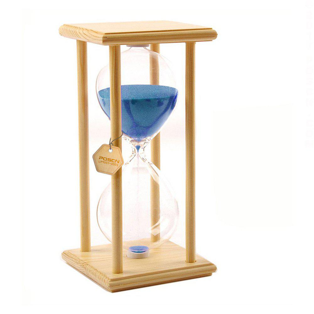 Buy POSCN 30 Minutes Durable Glass Hourglasses Crude Wood Sand Timer for Time Management LP9007-0005