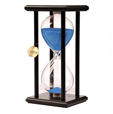 Shops POSCN 15 Minutes Durable Glass Hourglasses Black Wood Sand Timer for Time Management LP9007-0007