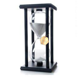 POSCN 15 Minutes Durable Glass Hourglasses Black Wood Sand Timer for Time Management LP9007-0007 -