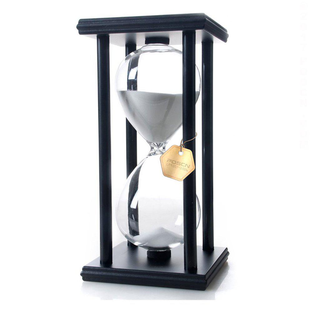 Outfits POSCN 15 Minutes Durable Glass Hourglasses Black Wood Sand Timer for Time Management LP9007-0007