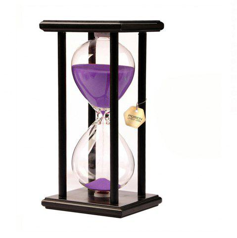 Outfit POSCN 45 Minutes Durable Glass Hourglasses Black Wood Sand Timer for Time Management LP9007-0009