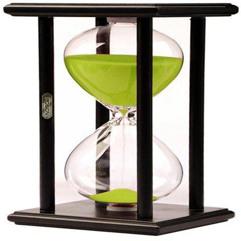 Unique POSCN 45 Minutes Durable Glass Hourglasses Black Wood Sand Timer for Time Management LP9007-0009