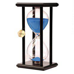 POSCN 45 Minutes Durable Glass Hourglasses Black Wood Sand Timer for Time Management LP9007-0009 -