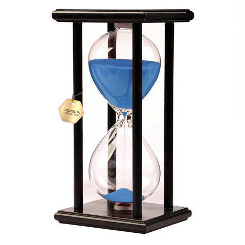 New POSCN 60 Minutes Durable Glass Hourglasses Black Wood Sand Timer for Time Management LP9007-0010