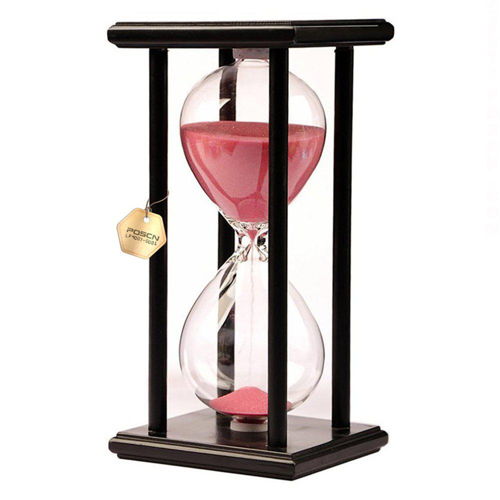 Outfits POSCN 60 Minutes Durable Glass Hourglasses Black Wood Sand Timer for Time Management LP9007-0010