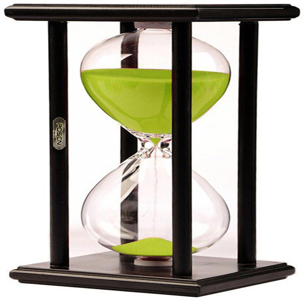 Store POSCN 60 Minutes Durable Glass Hourglasses Black Wood Sand Timer for Time Management LP9007-0010