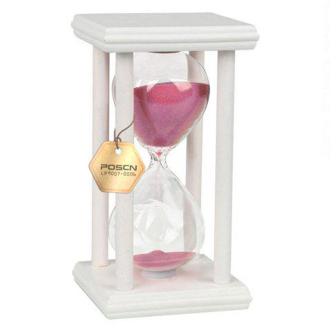 Online POSCN 30 Minutes Durable Glass Hourglasses White Wood Sand Timer for Time Management LP9007-0011