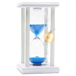 POSCN 60 Minutes Durable Glass Hourglasses White Wood Sand Timer for Time Management LP9007-0018 -