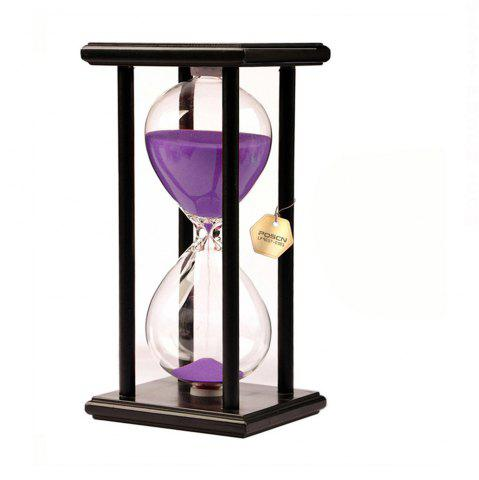 Best POSCN 30 Minutes Durable Glass Hourglasses Black Wood Sand Timer for Time Management LP9007-0020