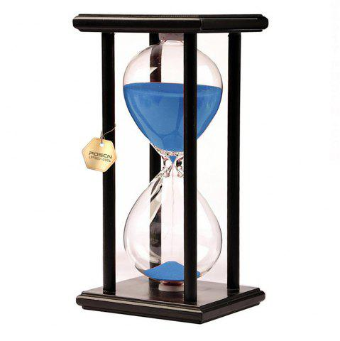 Unique POSCN 30 Minutes Durable Glass Hourglasses Black Wood Sand Timer for Time Management LP9007-0020