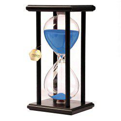 POSCN 30 Minutes Durable Glass Hourglasses Black Wood Sand Timer for Time Management LP9007-0020 -