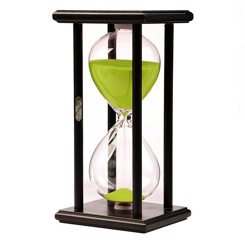 Fashion POSCN 30 Minutes Durable Glass Hourglasses Black Wood Sand Timer for Time Management LP9007-0020