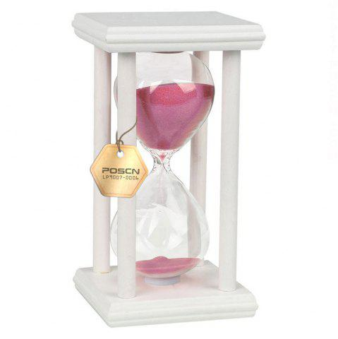 Outfits POSCN 45 Minutes Durable Glass Hourglasses White Wood Sand Timer for Time Management LP9007-0021
