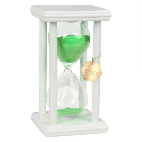Unique POSCN 45 Minutes Durable Glass Hourglasses White Wood Sand Timer for Time Management LP9007-0021