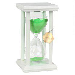 POSCN 45 Minutes Durable Glass Hourglasses White Wood Sand Timer for Time Management LP9007-0021 -